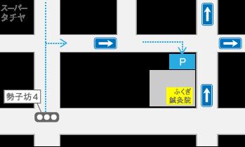 駐車場のご案内マップ